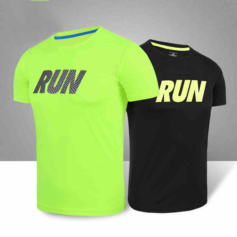 2018 Men's Sportswear Running Shirt Men Sport T-shirt Outdoor Jogging Tops Gym Loose Training Dry Fit Short Sleeve Uniform Women red stripe pattern loose fit t shirt page 5