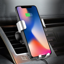 Fast Wireless Car Charger Stand 10W Car Mount Air Vent Phone Holder Cradle for iPhone X/8/8 Plus/Samsung Galaxy Edge+/Note 5/LG