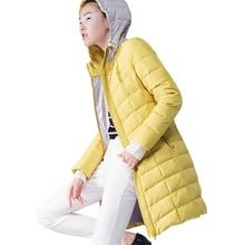 Europe 2017 New Fashion Slim Winter Women Jacket Casual coat Elegant Hooded Thick warm Jacket Big