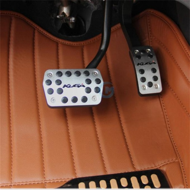 Fit For Ford KUGA Car Accessories Styling Pedal Anti-slip Stickers Accelerator Gas Brake Pad Pedals Auto Parts with Black Logo