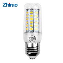 220V LED Bulb SMD 5730 E27 E14 Lamp LED Lights Led Corn Bulb 24 36 56 Leds Chandelier Candle Lighting Home Decoration Spotlight