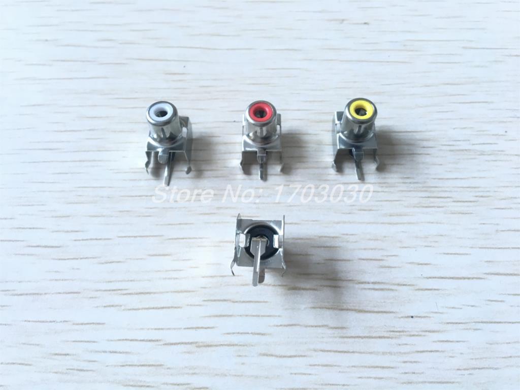 15 Pcs AV-8.4-3 AV Pin Jack 3 Color RCA Female Audio Video AV Socket Connector