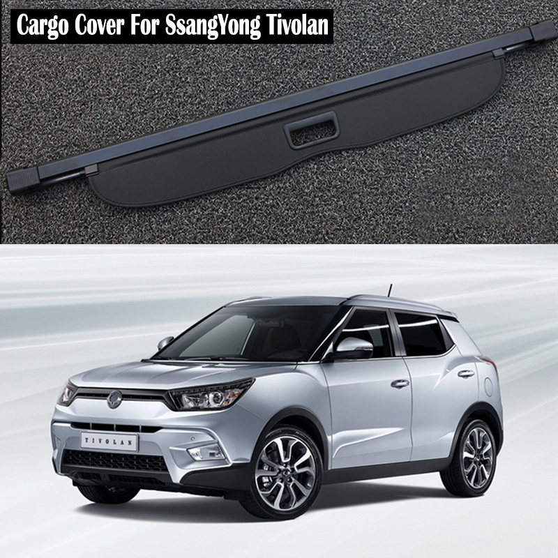 Rear Cargo Cover For <font><b>SsangYong</b></font> Tivolan <font><b>Tivoli</b></font> 2015 2016 2017 2018 2019 privacy Trunk Screen Security Shield shade Accessories image