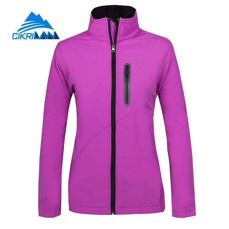 Women's Spring Autumn Outdoor Mountaineering Jacket Waterproof Windproof Fleece Warm Jackets Climbing Fishing Hiking Sports Coat