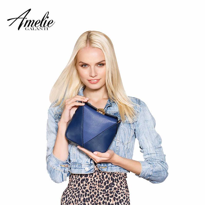 Amelie Galanti Wanita Kecil Tas Messenger Flap Kecil Keras Wanita Bahu & Tas Silang Fashion Patchwork Serbaguna