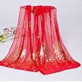 2017 горячие продажа новые леди шелк шифон шарф длинный шарф женщины шарфы и банданы хиджаб фуляр écharpe cachecol шаль