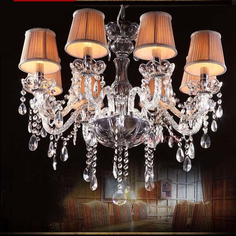 Moderní luster de cristal pro vnitřní dekoraci interiéru 6 světelných svítidel Ložnice Kuchyňská svítidla vedla křišťálový lustr
