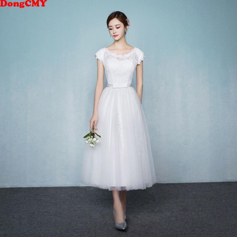 DongCMY 2020 New Princess Junior Bridesmaid Dresses White Color Short Elegant Vestido Gowns