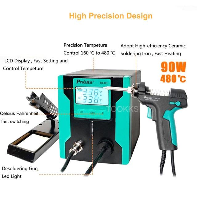 Updated Version  Pro'sKit SS-331H Electric Desoldering Gun  Desoldering Pump More Efficient  Increase Automatic Sleep Function 1