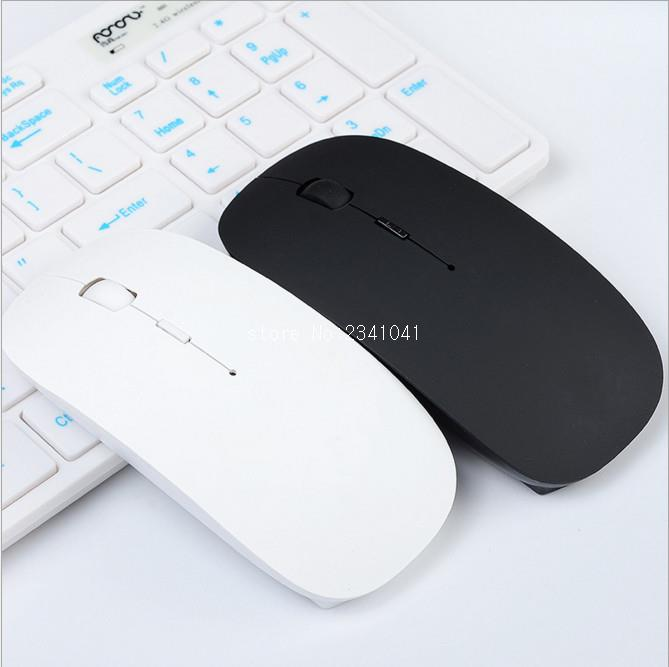 Ultra Thin USB Optical Wireless Mouse 2.4G Receiver Super Slim Mouse For Computer PC Laptop Desktop black white Candy color usb 2 0 wired optical mouse for pc laptop red black 110cm