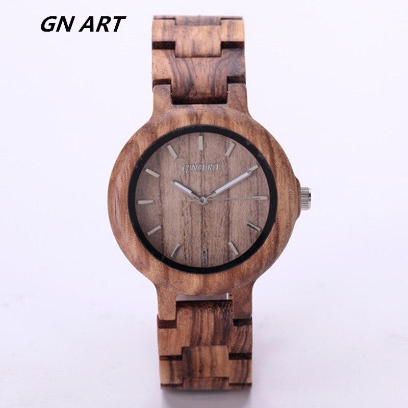 099 dámské hodinky Luxusní dárkové plné dřevěné náramkové hodinky ... 1a83e6dc6db