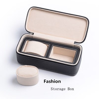 Top 2 Slots PU Watch Box Black Mechanical Mens Watch Storage Box New Women Jewelry Case Travel Package Watch Case W025