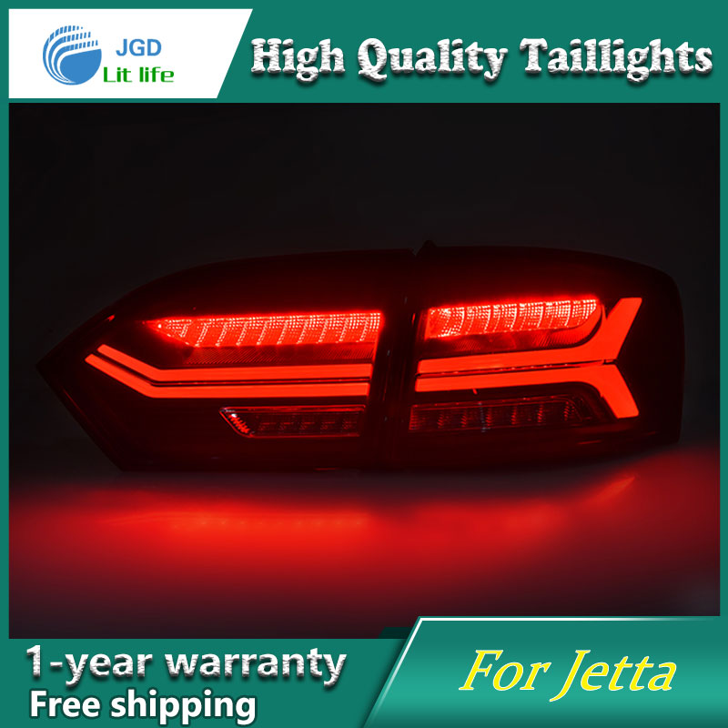 Car Styling Tail Lamp case for Volkswagen VW Jetta 2015 2016 Tail Lights LED Tail Light Rear Lamp LED taillights tail lights