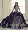 2016 Roxo Tafetá Quinceanera Dresses vestido de Baile Sweetheart Frisada de Cristal Ruffles Doce 16 Vestido Vestidos De 15 Años