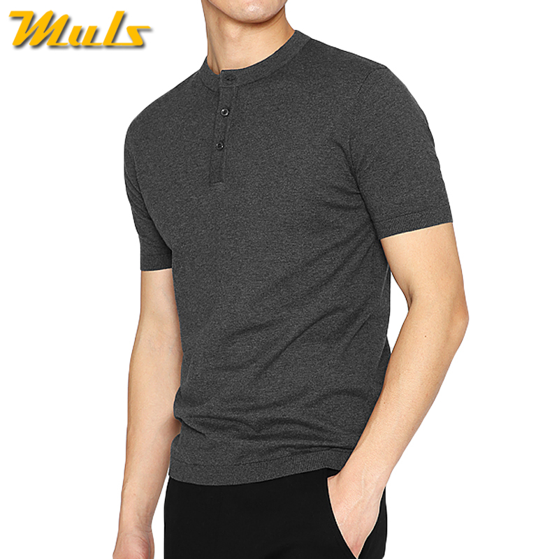 Top quality male t shirts men summer cotton knitted henry for Best t shirts for summer