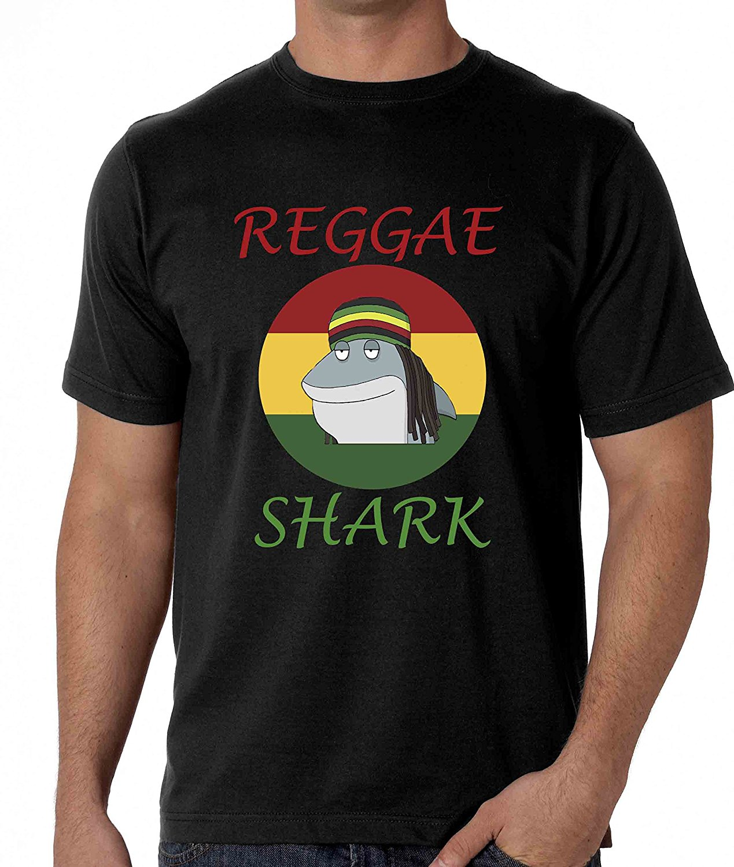 Design t shirt reggae - Summer 2017 Plus Size Design Reggae Shark Rasta Cool Man T Shirt Crew Neck Short