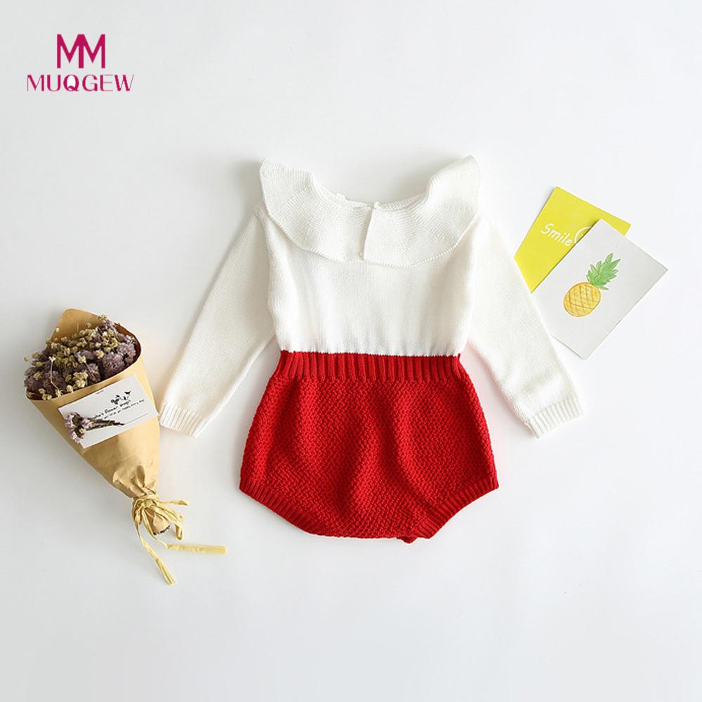 88056d5cba941 MUQGEW Girls Clothes Kids Girls Baby Knitted Sweater Winter Princess Romper  Jumpsuit Clothes newborn baby girl clothes 2019