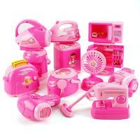 12PCS/Set Mini Small Children Pretend Kitchen Appliances Toy Kitchen Accessories Kids Kitchen Accessories Play Home Toys Set