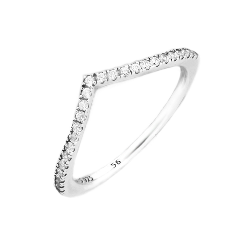 Authentic 925 Sterling Silver Ring Shimmering Wish Clear CZ Ring for Women Gift Wedding Jewelry Sterling-Silver-JewelryAuthentic 925 Sterling Silver Ring Shimmering Wish Clear CZ Ring for Women Gift Wedding Jewelry Sterling-Silver-Jewelry