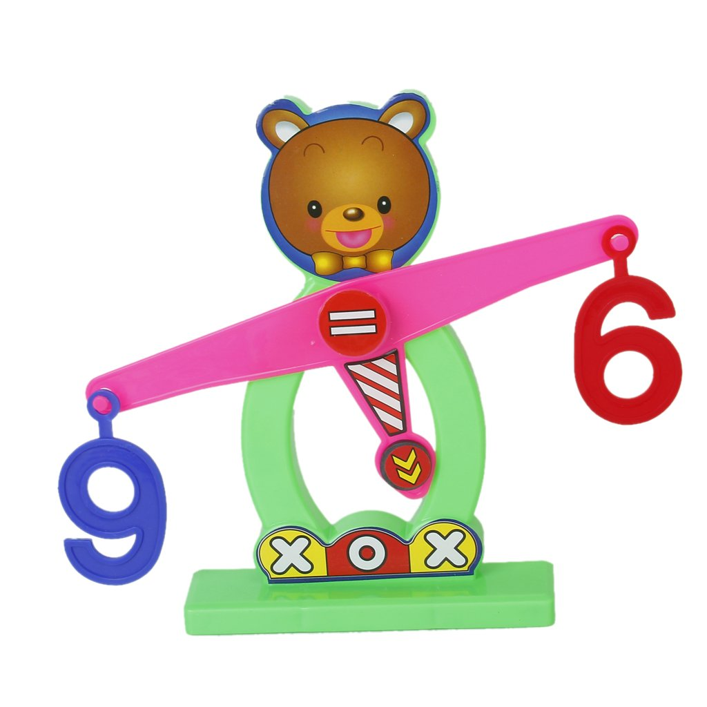 JEYL Hot New Colorful Plastic Bear Balance Scale Numbers Children Educational Toy 800g electronic balance measuring scale with different units counting balance and weight balance