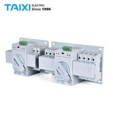 Мини АТС двойной мощности автоматический переключатель MCB 2P+ 2P 3P+ 3P 4P+ 4P Ручное переключение автоматических выключателей MCB 63A 40A 20A32A