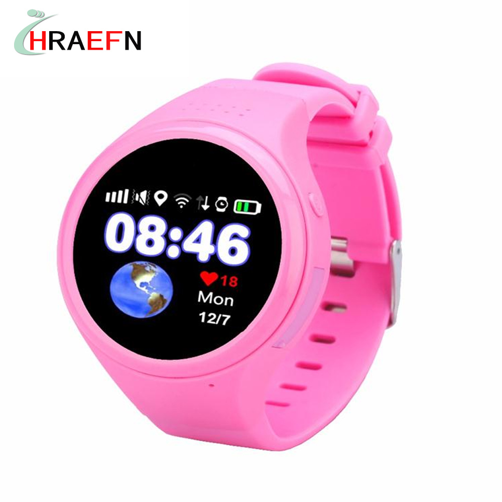 Hraefn Smart Baby Watch T88 Children Kids smartwatch GSM GPS wifi AGPS Locator Tracker Anti-Lost SOS for child kid PK q50 Q90 smart baby watch g72 умные детские часы с gps розовые