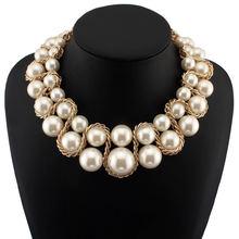 UKMOC Модная Золотая цепочка крест имитация жемчуга воротник Чокеры массивное ожерелье ювелирные изделия для женщин аксессуары для платья