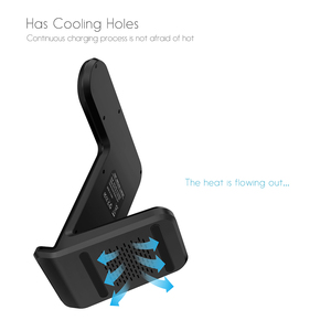 Image 5 - DCAE 2 in 1 CHARGING Dock Station Bracket Cradle Stand ผู้ถือ Qi Wireless Charger สำหรับ iPhone 11 XS MAX XR X 8 Apple 5 4 3