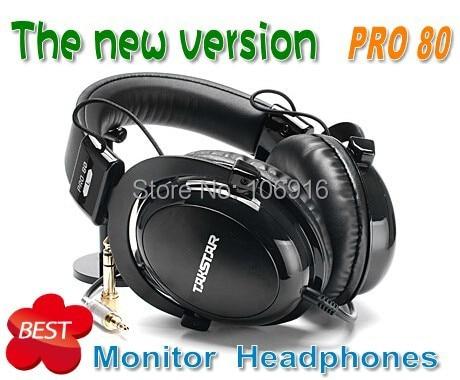 HOT New Version %Takstar PRO 80 Closed Dynamic Stereo Headphones & Earphone Professional Audio Monitoring Amazing Sound pro80