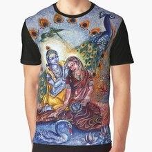 685283fe All Over Print 3D Men Funny tshirt Women t shirt Radha Krishna - Divine  Leela Graphic