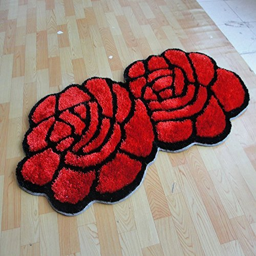 Winlife Red Rose Shaped Rug Living Room Rugs And Carpets Door Mat Antiskid Bedroom Floor In Carpet From Home Garden On Aliexpress Com Alibaba Group