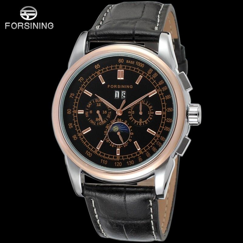 FORSINING Hommes Automatique montres-bracelets mécaniques Top Marque De Luxe Squelette Montre Pour Homme Horloges Relogio masculino Reloj Hombre