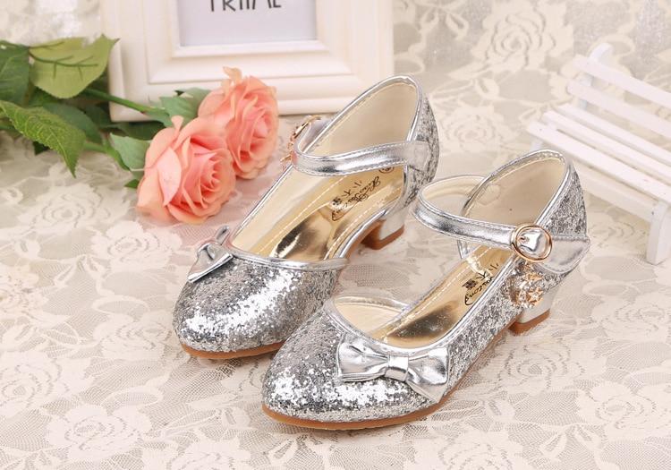 Girls Princess Shoes 2018 New Children Princess Sandals Kids Girls ... e6b3498c50df