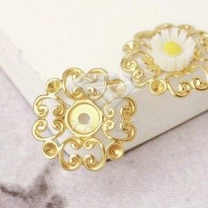 Ожерелье из латуни, 20 шт., 23,5x23,5x2 мм