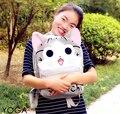Para 1 pc 43 cm dos desenhos animados queijo grande gato de brinquedo de pelúcia mochilas mochila crianças saco de ombro