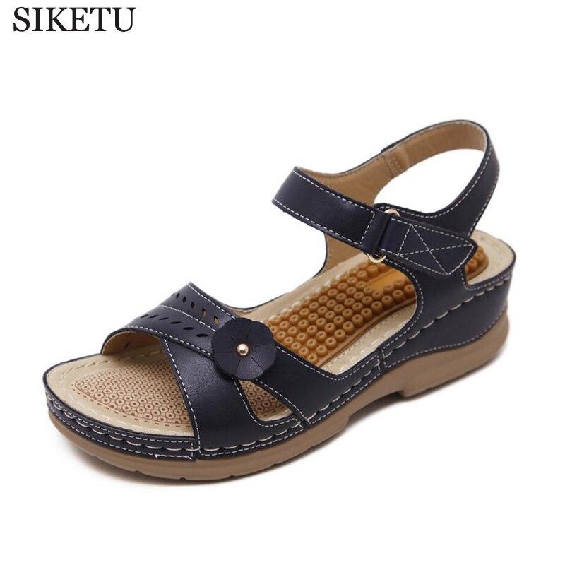 Platform sandalen vrouwelijke zomer platte sandalen all muffin leisure massage vrouwen sandalen schoenen vrouw sandalias mujer k206