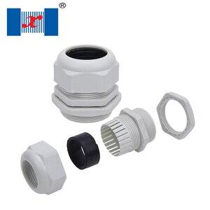 100 sztuk/partia PG7 3-6.5mm biały czarny wodoodporny przewód z tworzywa sztucznego uchwyt dławik kablowy z nylonu złącze