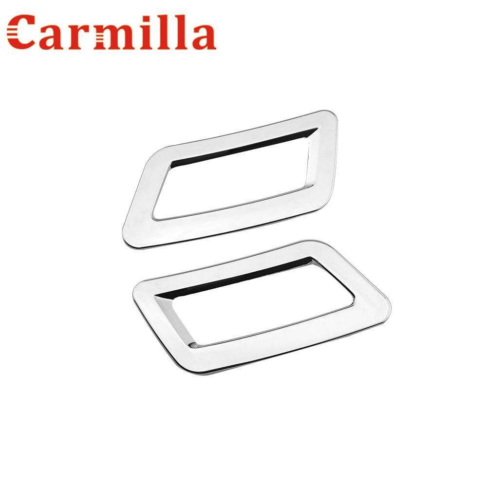 Carmilla rozsdamentes acélból készült szellőzőnyílások díszítésével díszített autómatrica Belső védő matricák a Nissan Qashqai J11 X-trail T32-hez