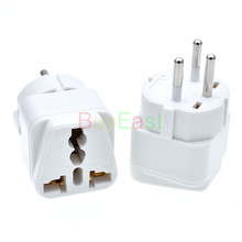 цены 5 X   ISRAEL Palestine Travel Plug Adapter Universal Outlet Israeli 3 Pin Grounded Plug Adaptor White Color