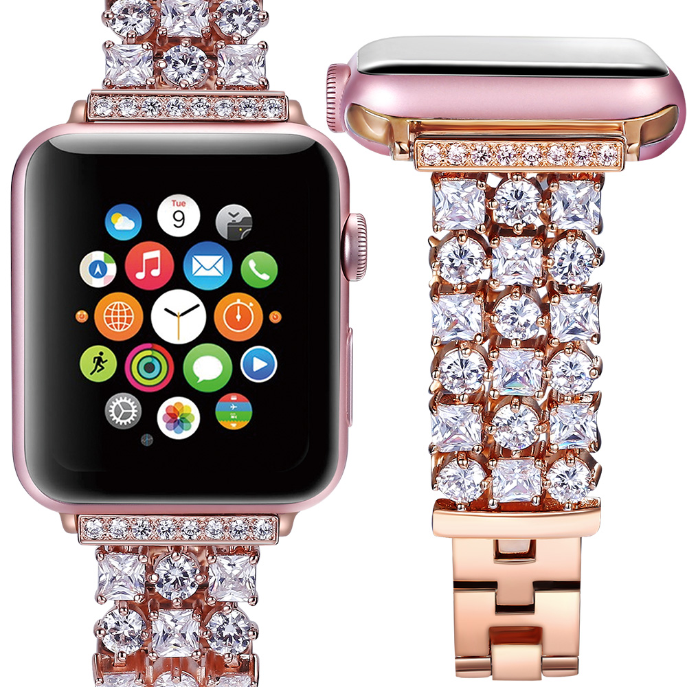 2018 women men Luxury Diamonds strap for iwatch band for apple watch 42mm 38mm belt series