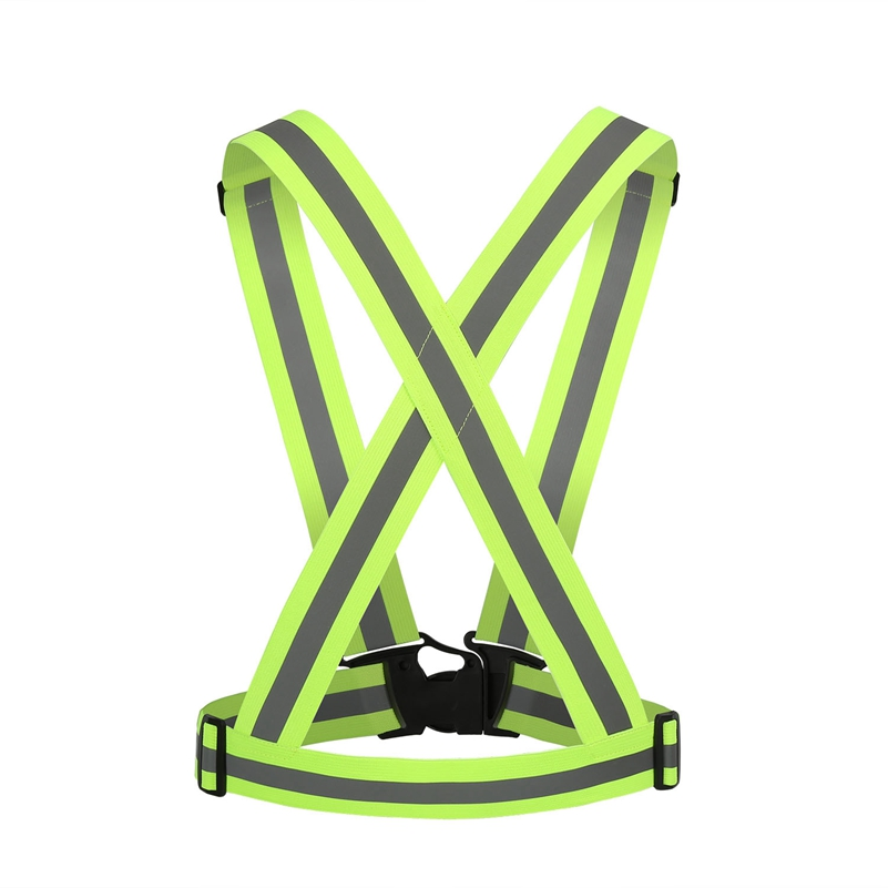 4cm Cycling Vest Reflective Visibility Night Riding Running Jogging Protective Stripe Adjustable Elastic trap Gear Green pink
