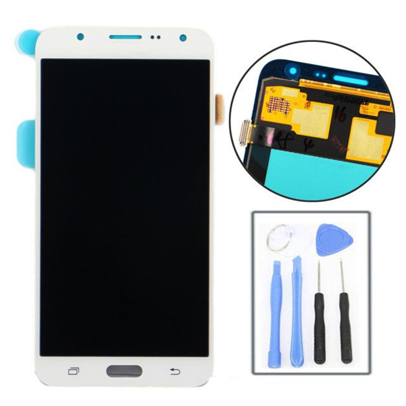 LCD Display Digitizer Touch Screen Assembly For Samsung Galaxy J7 J700 J700F White