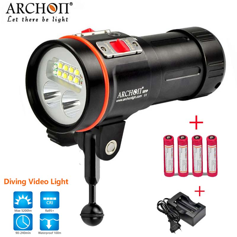 100% Original ARCHON D37VP Update D36VR W42VR U2 UV Multifunction Underwater Photographing Sea Diving Flashlight Video Light 100% original archon d37vp update d36vr w42vr u2 uv multifunction underwater photographing sea diving flashlight video light