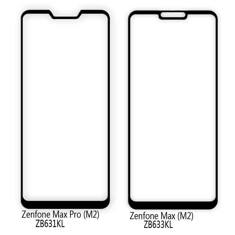50 Pcs Full Glue Screen Protector Tempered Glass For ASUS ZenFone Max Pro M2 ZB6331KL ZB633KL