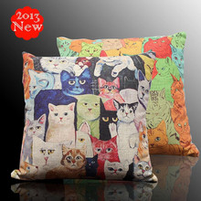 Cushion Sofa Pillow 2PCS Cartoon Hand-Drawn Wholesale