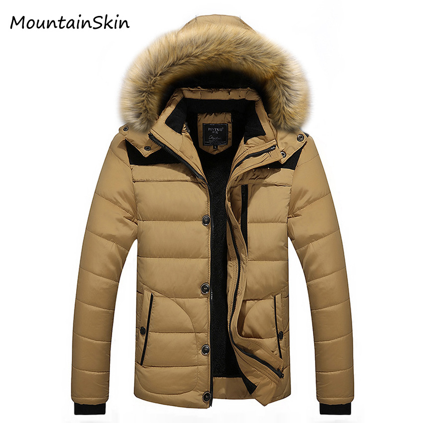 Mountainskin 5XL Mens Winter Jackets Warm Male Hoodies Thermal Thick Parkas Male Hooded Coat Fashion Men Brand Clothing LA156