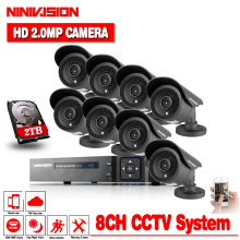 цены AHD CCTV DVR System 8CH 1.3MP Outdoor Waterproof Cameras CCTV System Kit 8 Channel Video Surveillance Camera HDMI 1080P Kit