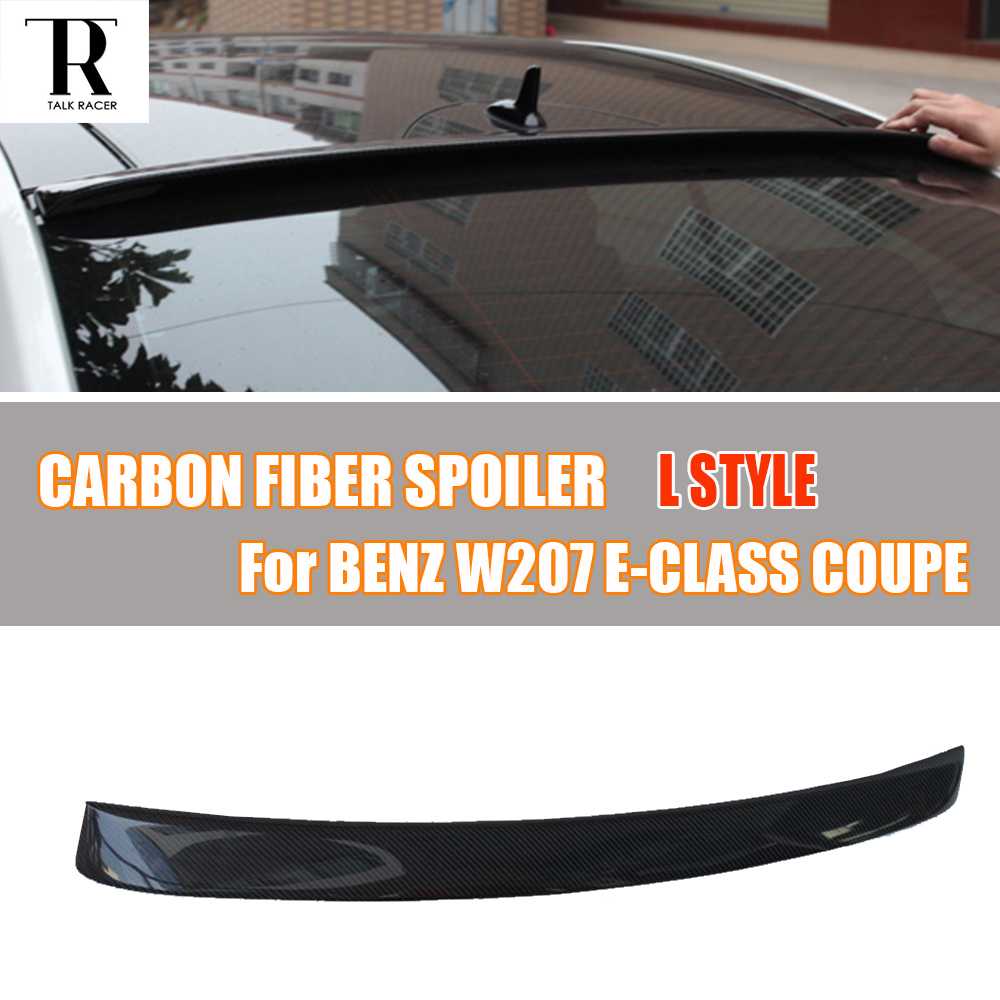 W207 C207 Carbon Fiber Rear Roof Window Spoiler for Benz W207 C207 E Class Coupe E200 E260 E300 E350 2 Door 2012 - 2016