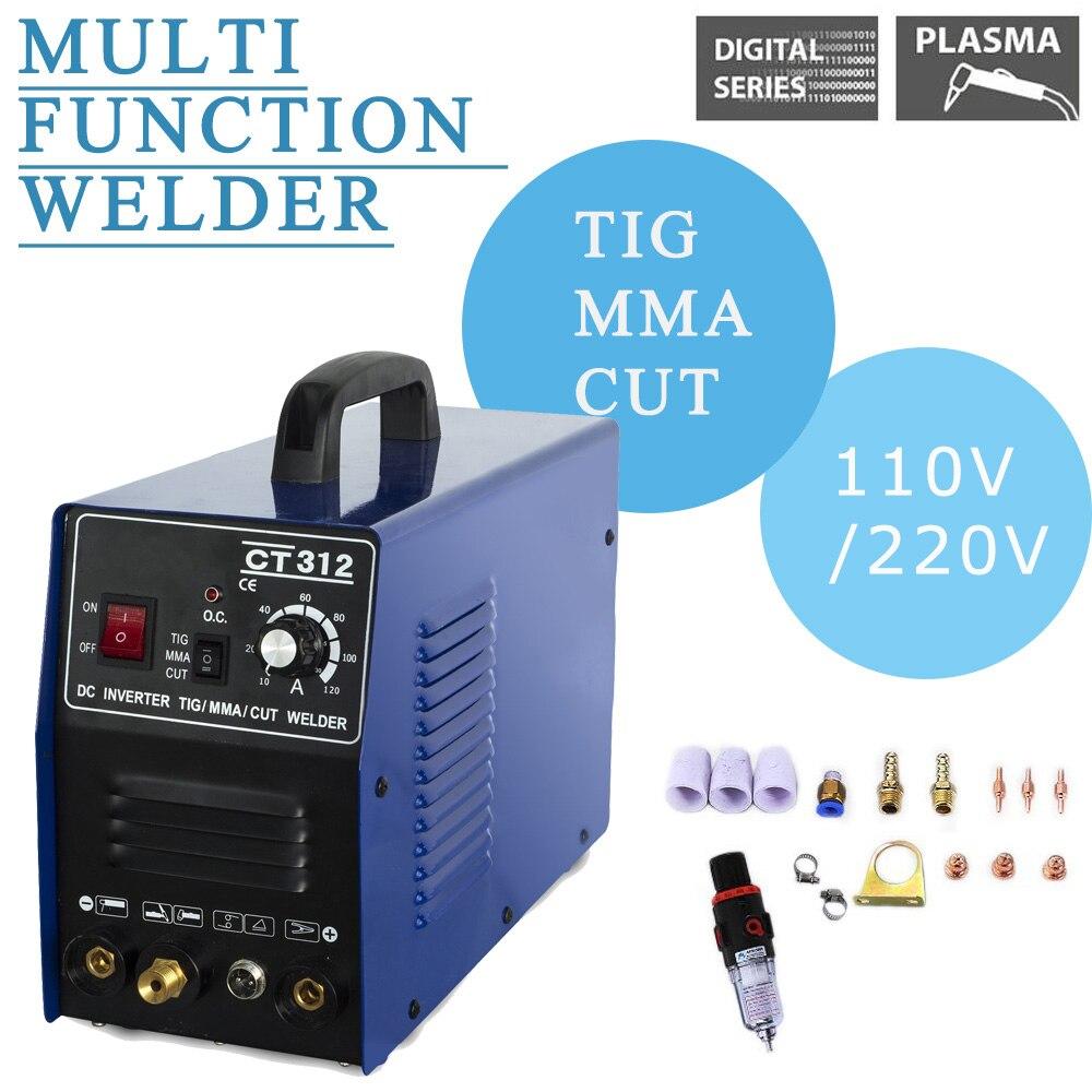 CT312 3IN1 Welding machine TIG//MMA//Plasma Cutter Welder Torches Accessories