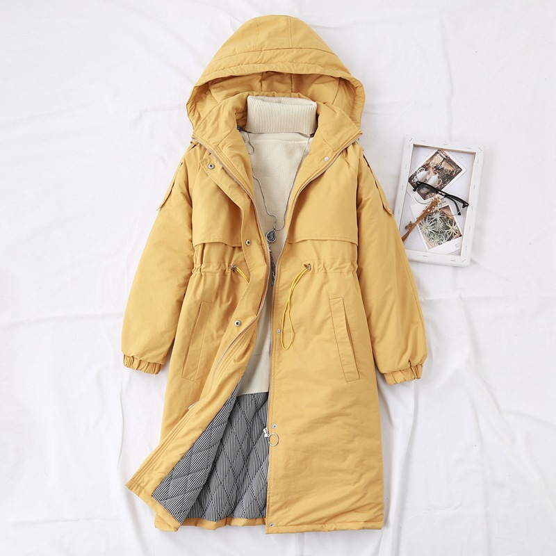 Solid Hooded   Parka   Women Winter Coats Casual Loose Warm Thick Long   Parkas   Plus Size Outerwear